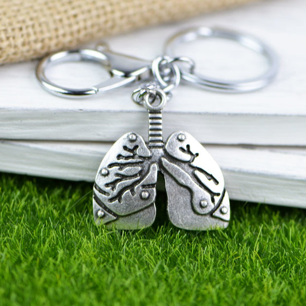 Anatomical Lungs Keychain