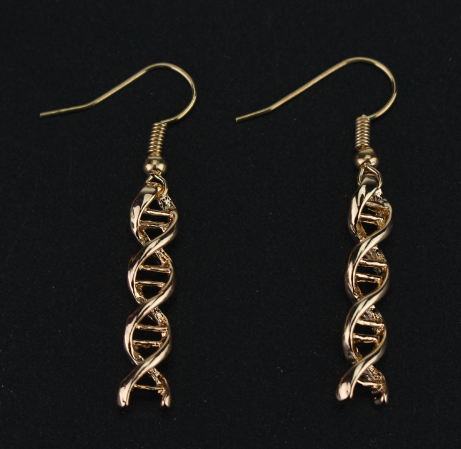 Double Helix Drop Earrings