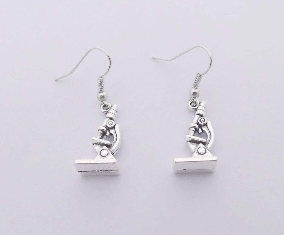 Microscope Drop Earrings
