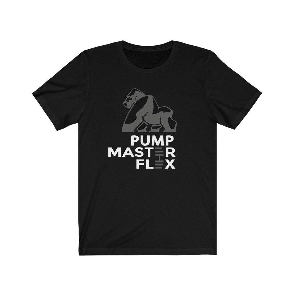 Pump Master Flex Apparel, Bodybuilding, Tshirt, exercise, Weightlifting, Fitness Tees, Fitness, Black, Dumbbell, Cotton