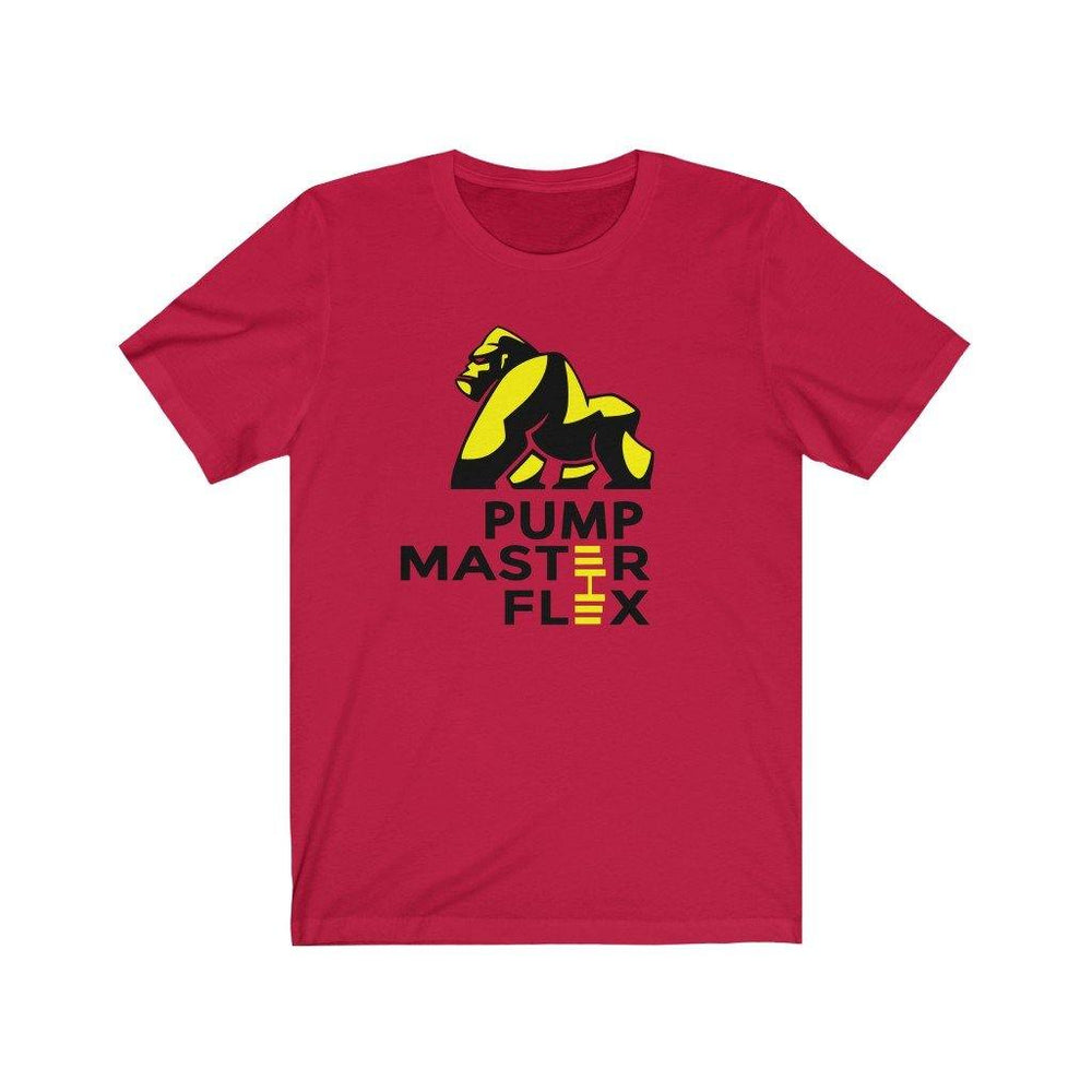 Pump Master Flex Apparel, Bodybuilding, Tshirt, exercise, Weightlifting, Fitness Tees, Fitness, Red, Dumbbell, Cotton