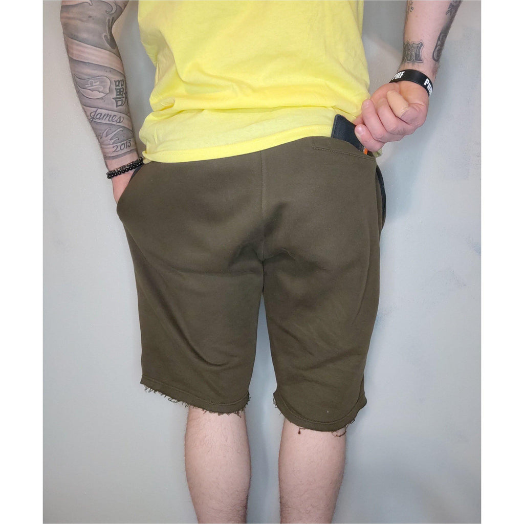 Fitted Athletic Shorts (Olive Green)