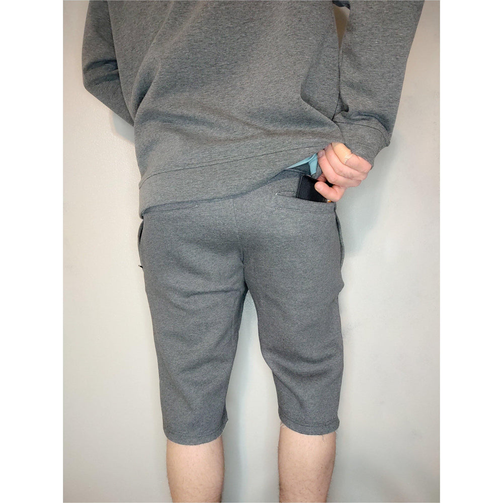 Fitted Athletic Shorts (Charcoal Gray)