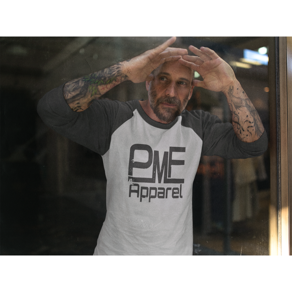 Pump Master Flex, Raglan, Triblend, Bodybuilding Apparel, workout clothes, fitness, fitness apparel, gym gear, muscle, gorilla