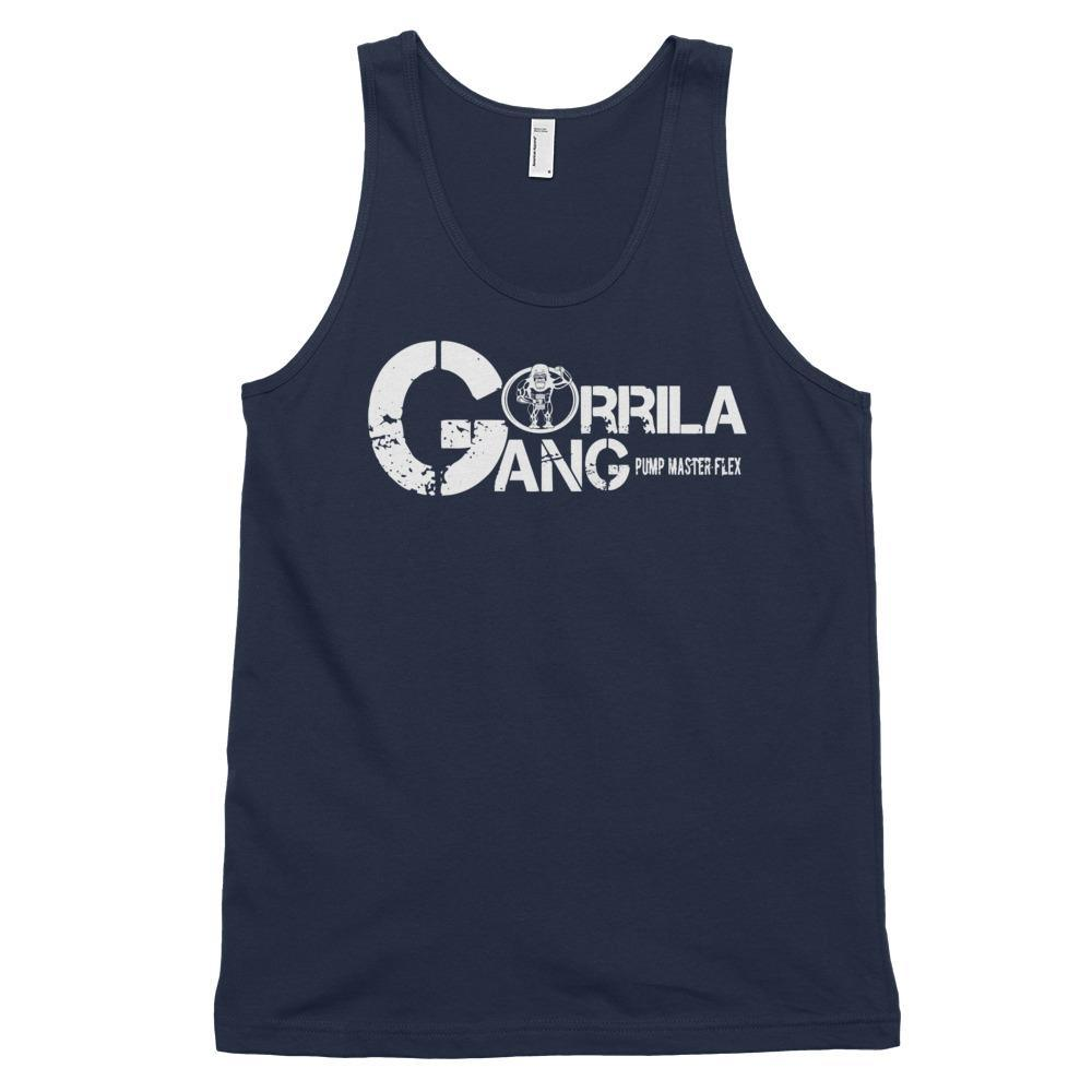The GORILLA GANG Tank - Classic tank top (unisex) - Pump Master Flex - Navy