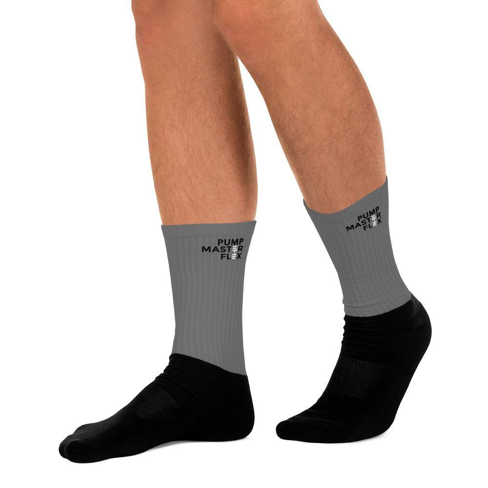 Pump Master Flex Socks, Socks, Weights, dumbbells, Grey and Black, , Fitness Apparel, Gym Clothes,