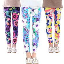 Vibrant Flowers Girls Leggings
