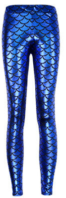 Bright Blue Mermaid Scale Pattern