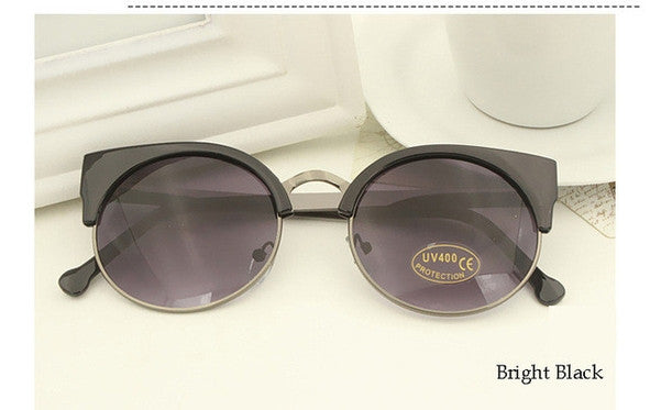 Bright Black Vintage Cat Eye Sunnies