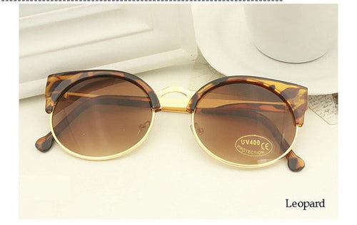 Leopard Vintage Cat Eye Sunnies