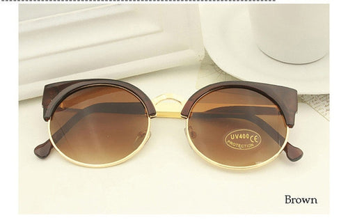 Brown Vintage Cat Eye Sunnies