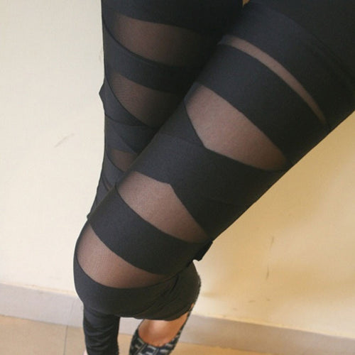 Wrap Mesh Fashion High Waist Leggings