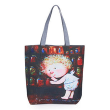 Shhhh Printed Canvas Fashion Tote Bag