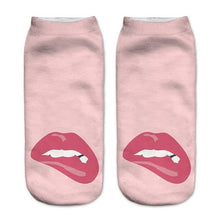 Fat Lips Low Cut 3D Printed Ankle Socks