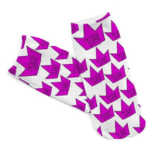 Purple Queen Low Cut 3D Printed Ankle Socks