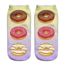 Go Nuts 4 Donuts Low Cut 3D Printed Ankle Socks