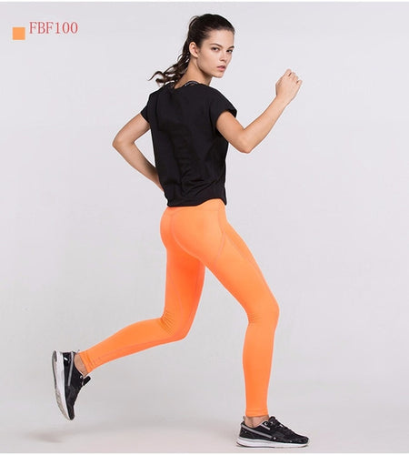Tangerine Compression Fitness
