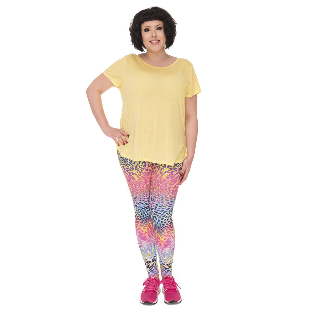 Rainbow Leopard - Plus Size