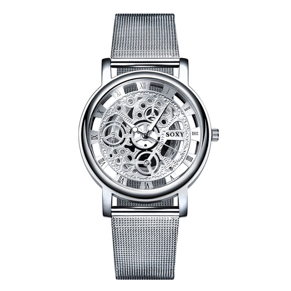 Silver Hollow Design Watch