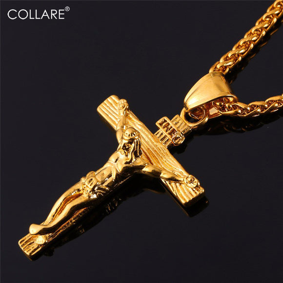Stainless Crucifix Cross Necklace