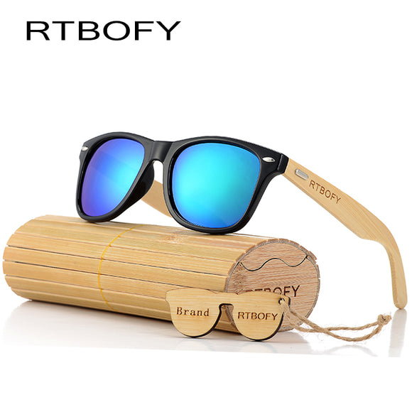 Retro Bamboo Wood Style Sunglasses