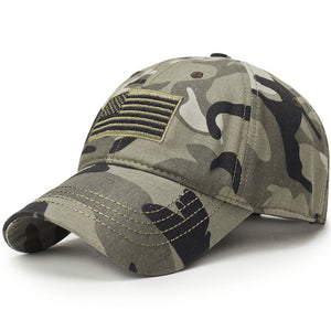 USA Flag Camouflage Baseball Hat