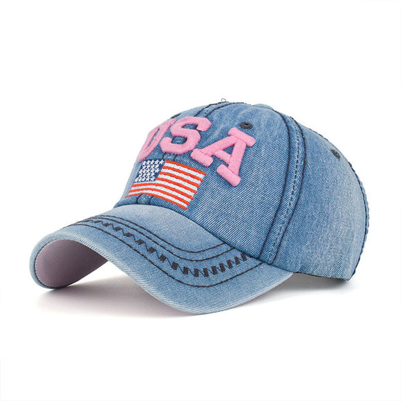 USA Flag Embroidery Hat