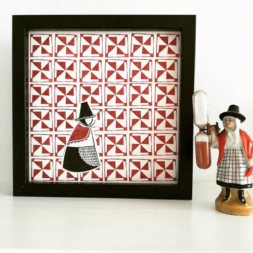 Welsh Quilt Lady Print