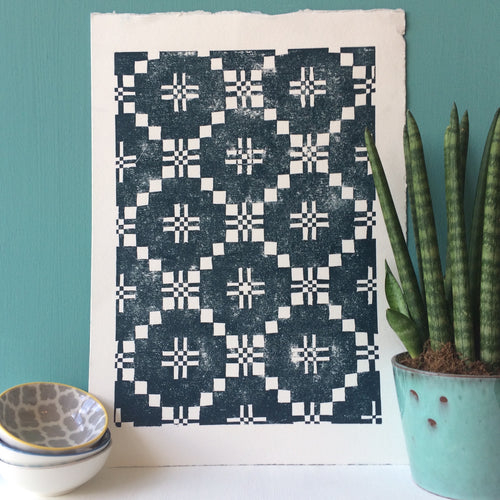 Welsh Blanket Print