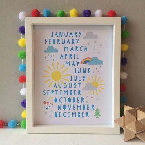 Months of the Year Print