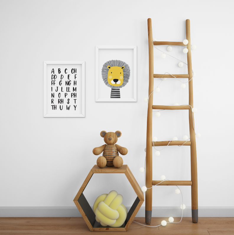 Welsh Alphabet and Lion Print