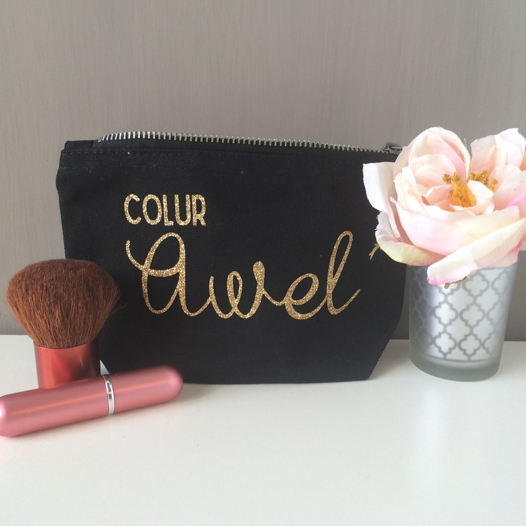 Welsh Personalised Cosmetic Bag