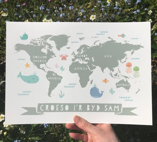 Personalised World Map Print