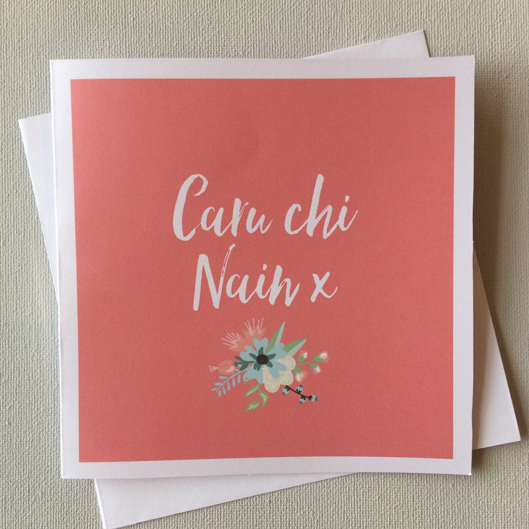 Welsh 'Love You Gran' Mother's Day Card