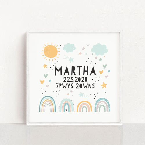 Personalised Rainbows Print