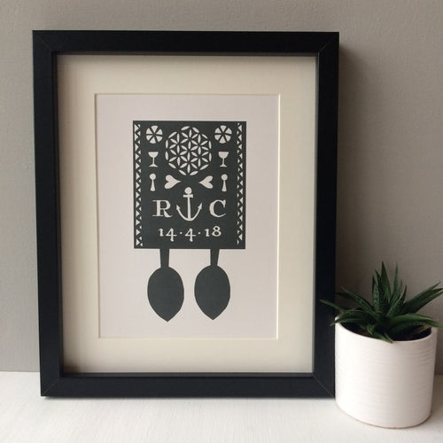 Personalised Lovespoon Print