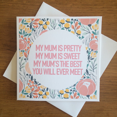 Mother's Day Poem Card
