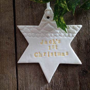 Personalised 1st Christmas Star