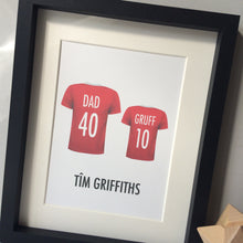 Personalised Family Football Team Print