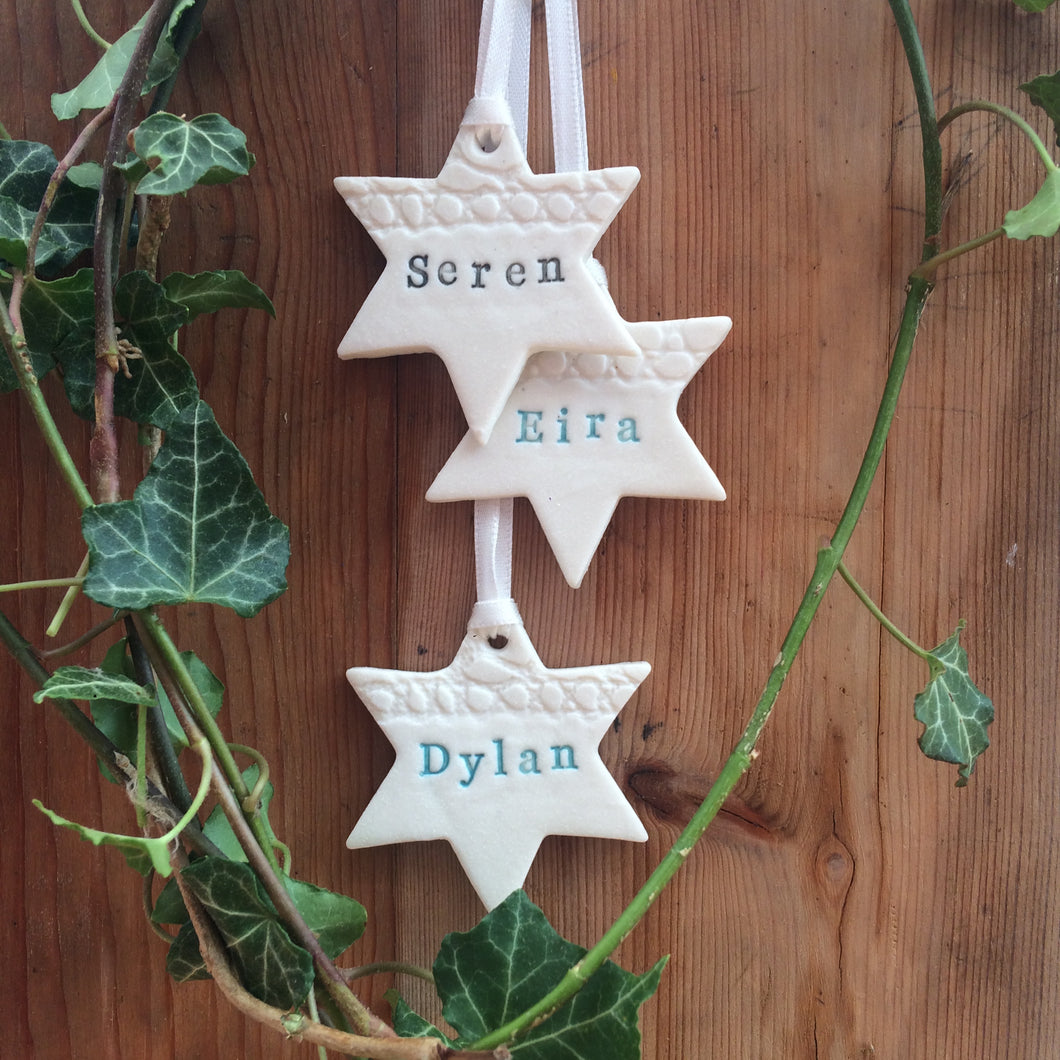 Personalised Ceramic Stars