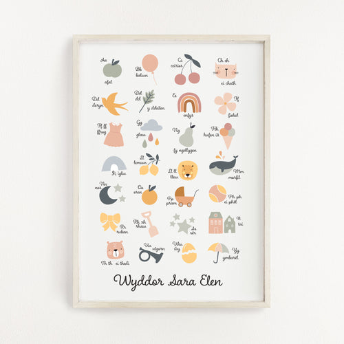 Personalised Welsh Alphabet Print