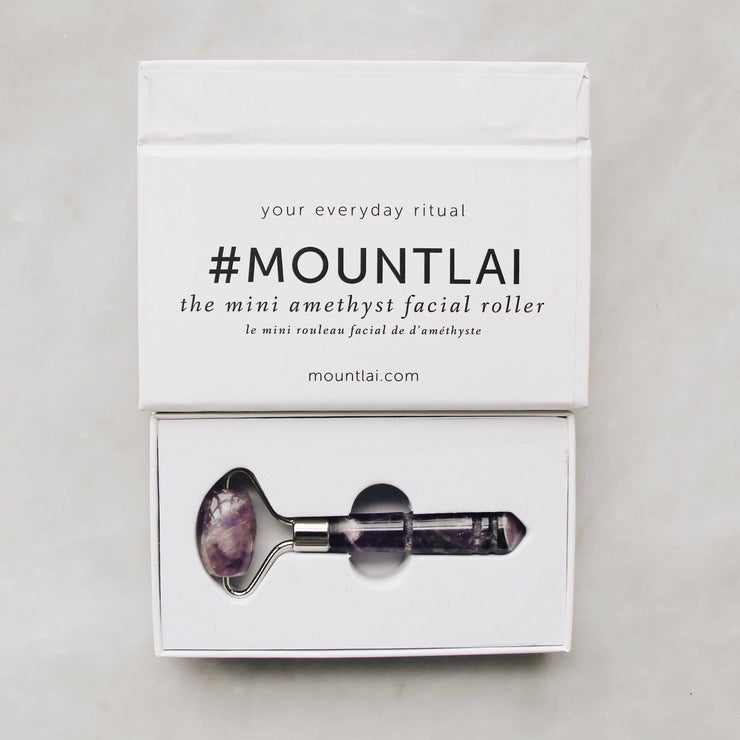 The De-Puffing Mini Amethyst Facial Roller