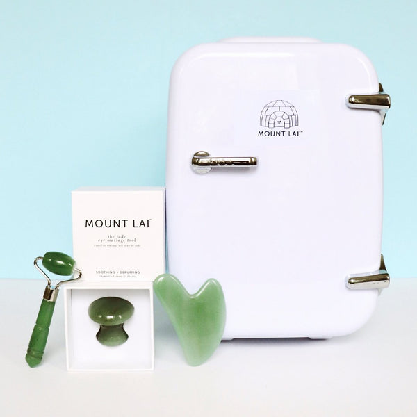 Mount Lai Skincare Fridge Set in Jade or Rose Quartz