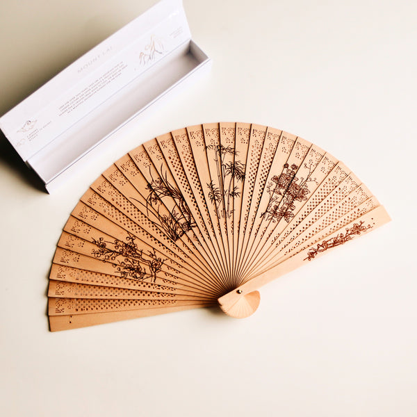 The Painted Wooden Fan