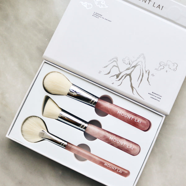 The Limited Edition Rose Quartz Crystal Brush Set