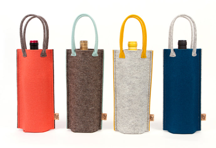 NEW FELT BOTTLE BAG
