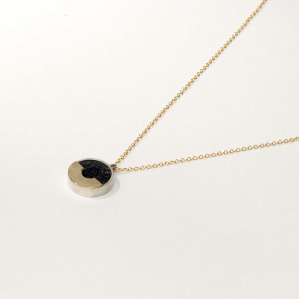 LEATHER & BRASS NECKLACE NO. 2