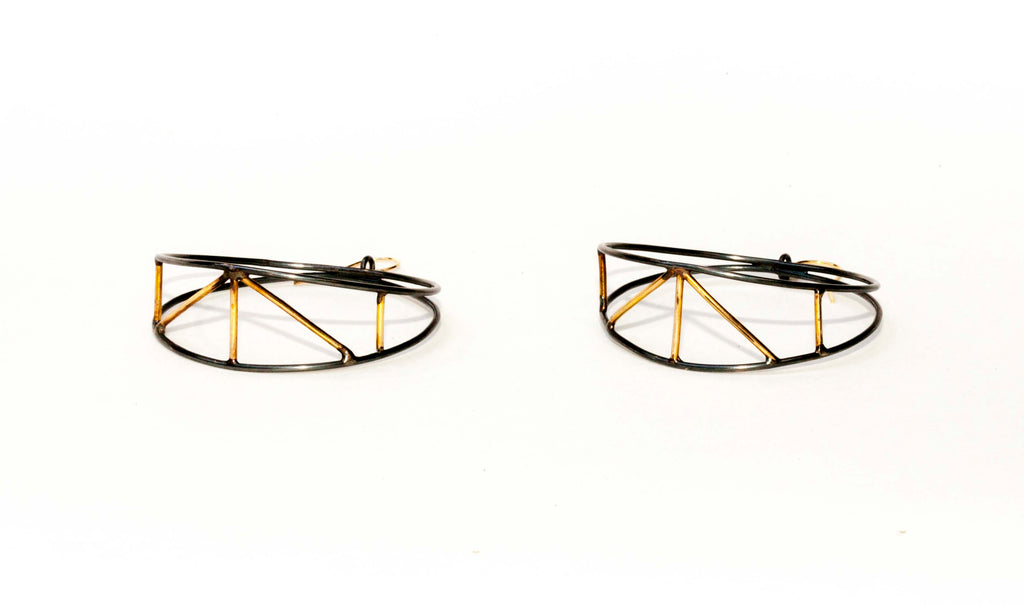 LADDER HOOP EARRINGS