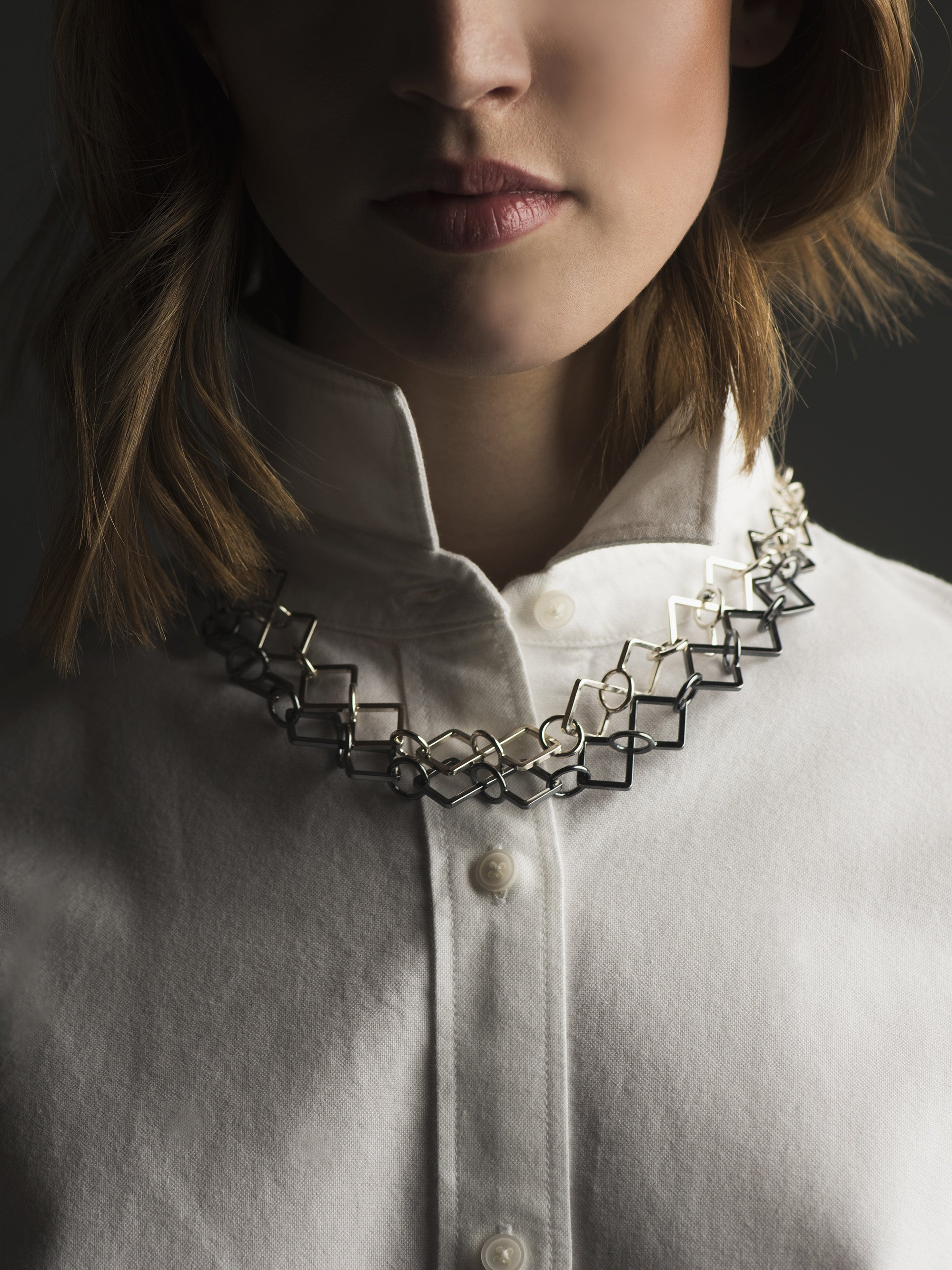 DOUBLE LAYER LINK NECKLACE