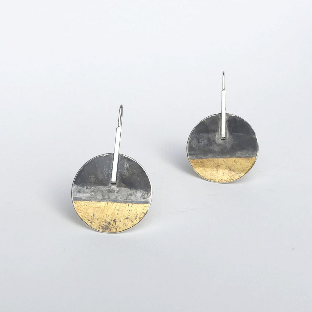 GOLD & SILVER LARGE ROUND DROP